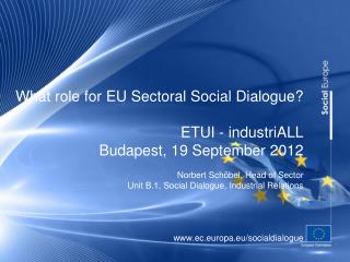 What role for EU social dialogue?