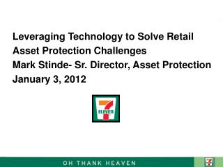 Leveraging Technology to Solve Retail Asset Protection Challenges