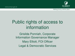 Public rights of access to information