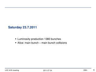 Saturday 23.7.2011