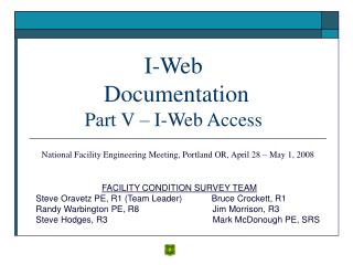 I-Web  Documentation Part V   I-Web Access