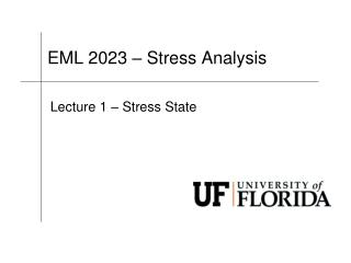 EML 2023 � Stress Analysis