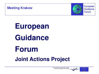 European Guidance Forum Joint Actions Project