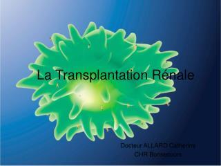 La Transplantation R�nale