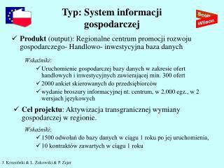 Typ: System informacji  gospodarczej