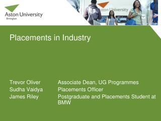 Placements in Industry