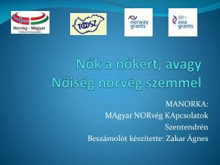 Nők a nőkért, avagy Nőiség norvég szemmel