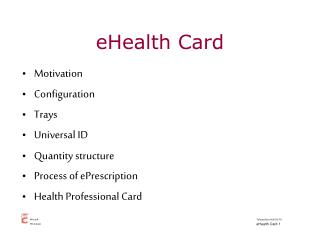 eHealth Card