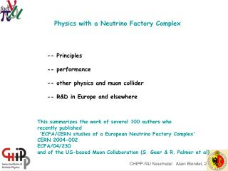 Physics with a Neutrino Factory Complex
