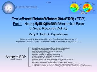 Evoked and Event-Related Potentials (ERP) Part 1  - Neurophysiological and Anatomical Basis