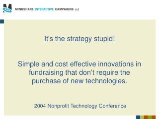 2004 Nonprofit Technology Conference
