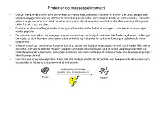 Proteiner og massespektrometri