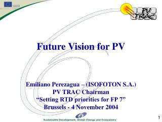 Foreword Initial Considerations Schedule And Objective Vision for Photovoltaics in 2030
