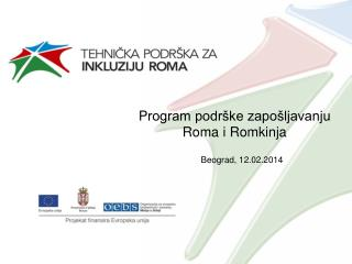 P rogram  podrške zapošljavanju Roma i Romkinja