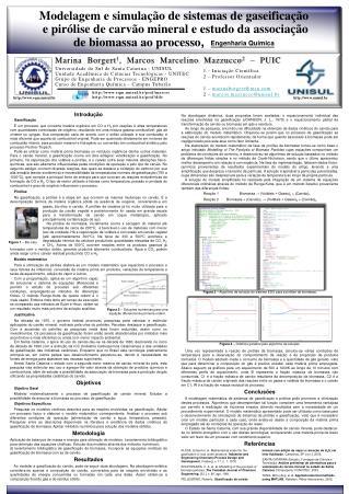 Modelagem e simulação de sistemas de gaseificação