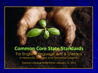 Common Core State Standards For English Language Arts & Literacy