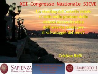 XII Congresso  Nazionale SICVE