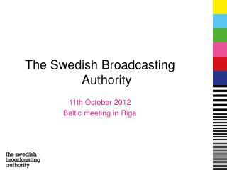 The Swedish Broadcasting Authority