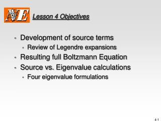 Lesson 4 Objectives