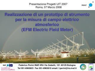 Presentazione Progetti UIT 2007  Roma, 07 Marzo 2008