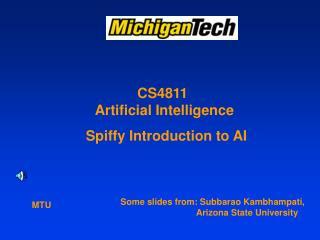 CS4811  Artificial Intelligence