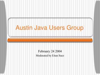 Austin Java Users Group