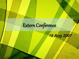 Extern Conference