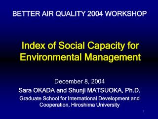 Index of Social Capacity for Environmental Management