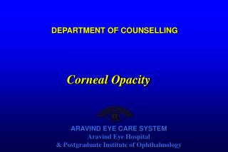 DEPARTMENT OF COUNSELLING