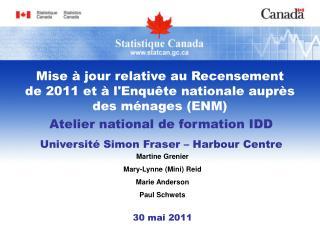 Atelier national de formation IDD Université  Simon Fraser – Harbour Centre
