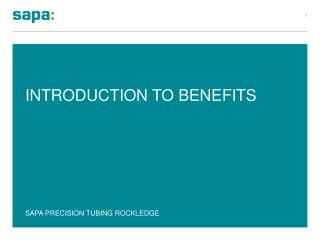 Introduction to Benefits