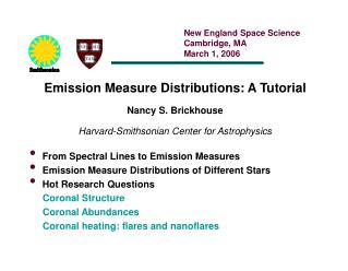From Spectral Lines to Emission Measures Emission Measure Distributions of Different Stars