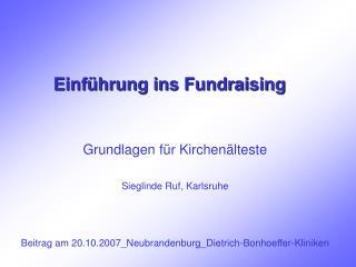 Einführung ins Fundraising