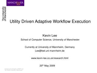 Utility Driven Adaptive Workflow Execution