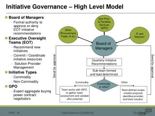 Initiative Governance – High Level Model