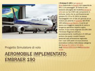 Aeromobile implementato: embraer  190