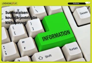 Suomalaisen koulujärjestelmän kieliopinnot