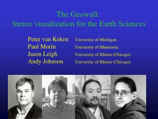 The Geowall:  Stereo visualization for the Earth Sciences