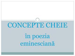 CONCEPTE CHEIE