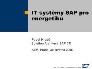 IT systémy SAP pro energetiku