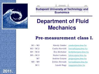 Pre-measurement class I.