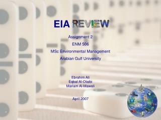 Assignment 2 ENM 506 MSc Environmental Management Arabian Gulf University Ebrahim Ali