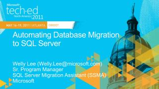Automating Database Migration  to SQL Server