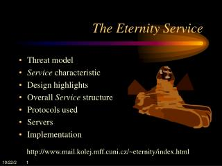The Eternity Service