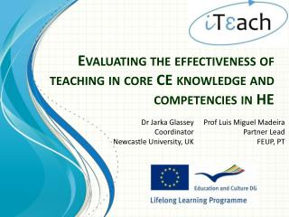 Evaluating the effectiveness of teaching in core CE knowledge and competencies in HE