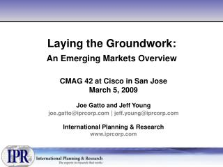 Laying the Groundwork: An Emerging Markets Overview