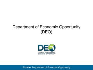 Department of Economic Opportunity (DEO)