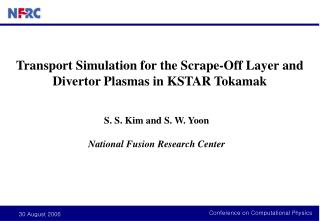 Transport Simulation for the Scrape-Off Layer and Divertor Plasmas in KSTAR Tokamak