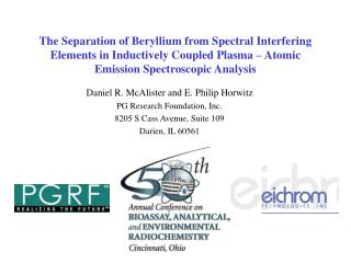 Daniel R. McAlister and E. Philip Horwitz PG Research Foundation, Inc.