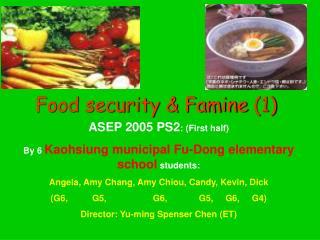 Food security & Famine (1)